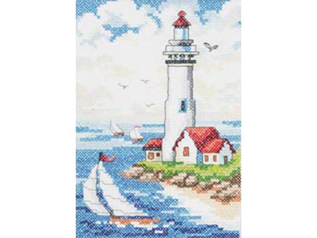 Lighthouse Stamped Cross Stitch Kit-6