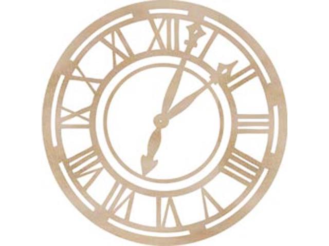 Wood Flourishes-Roman Clock Face