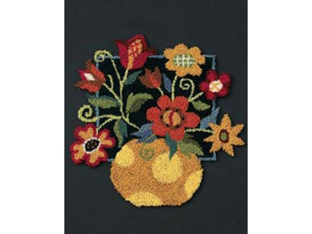 Floral On Black Punch Needle Kit-8