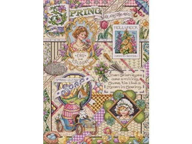 Spring Sampler Counted Cross Stitch Kit-12