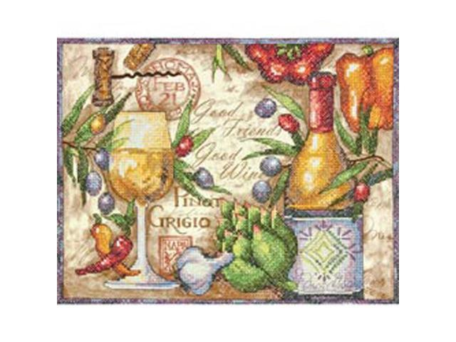 Pinot Grigio Stamped Cross Stitch Kit-14