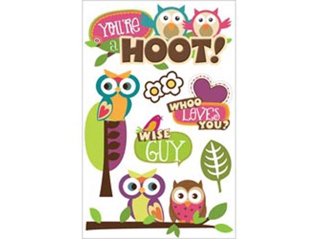 Paper House 3-D Sticker-You're A Hoot
