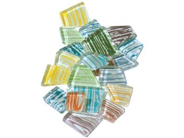 Crafter's Cut Mosaic Tiles .5lb-Assorted Brushstroke