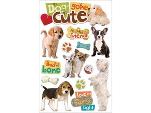 Paper House 3-D Sticker-Dog Gone Cute