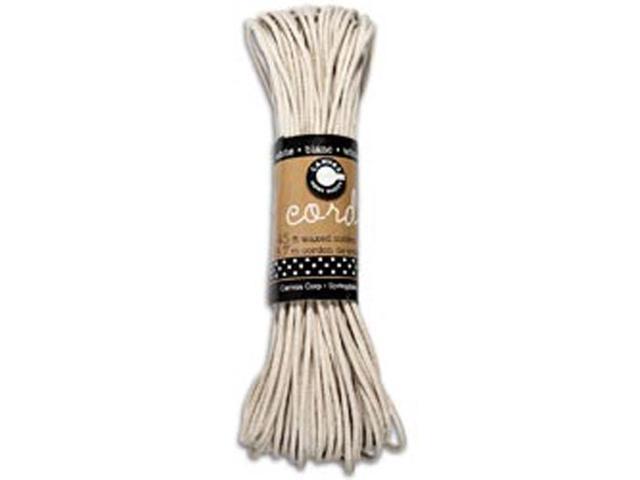 Waxed Cotton Cord 45 Feet/Pkg-White