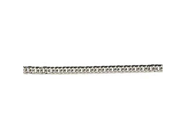 Jewelry Basics Metal Chain 1/Pkg-Silver Medium Flat 22