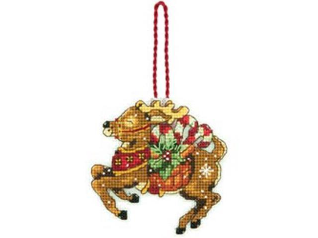 Susan Winget Reindeer Ornament Counted Cross Stitch Kit-3-3/4