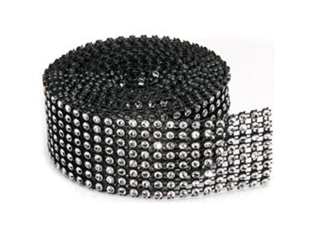 Bling On A Roll 3mm X 2yds-8 Row; Black/Silver