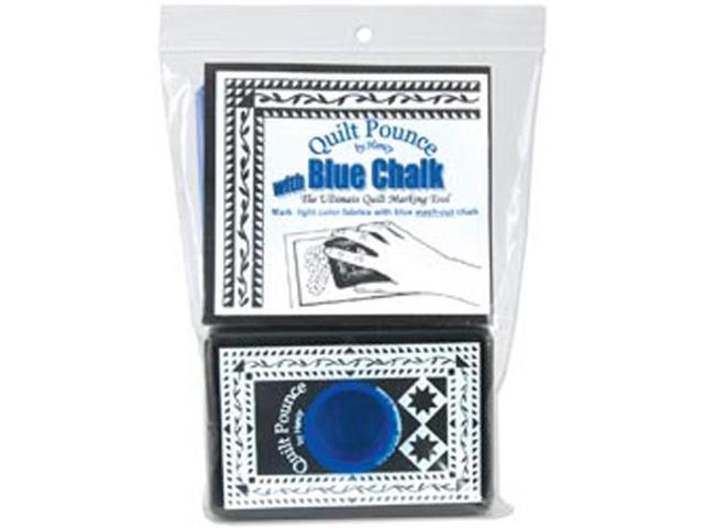Quilt Pounce Pad With Chalk Powder-4 Ounces Blue