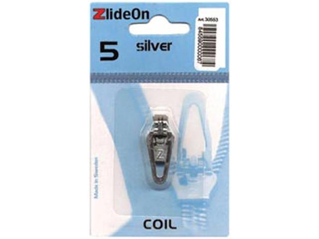 ZlideOn Zipper Pull Replacements Coil 5-Silver