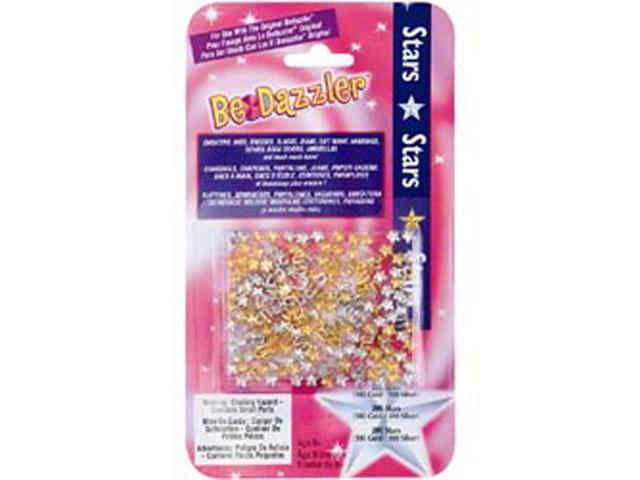 Be Dazzler Stud Refill 200/Pkg-Stars Gold & Silver