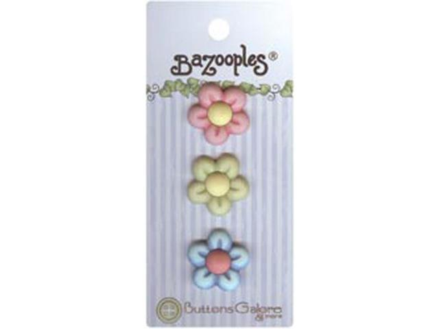 BaZooples Buttons-Multi Flowers