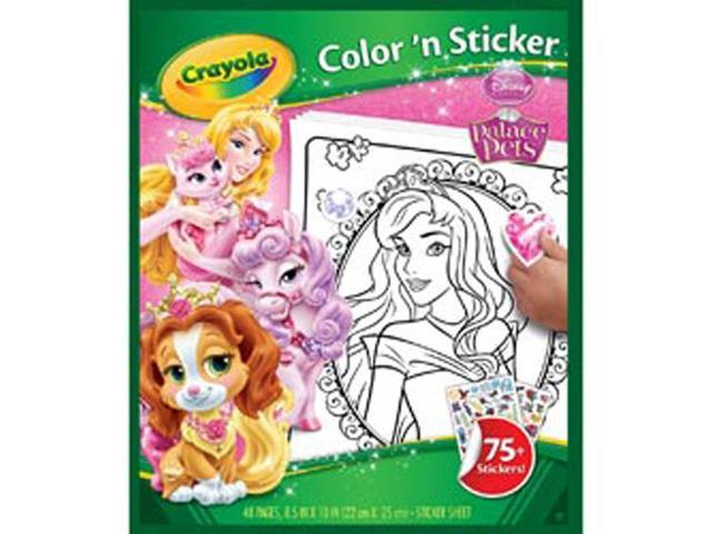 Color 'N Sticker Book-Palace Pets