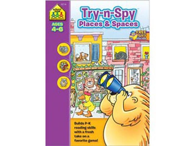 Preschool Workbooks 32 Pages-Try 'n Spy Places And Spaces