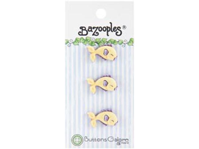 BaZooples Buttons-Yellow Fish