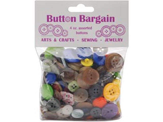 Button Bargain 4 Ounces-Assorted Colors