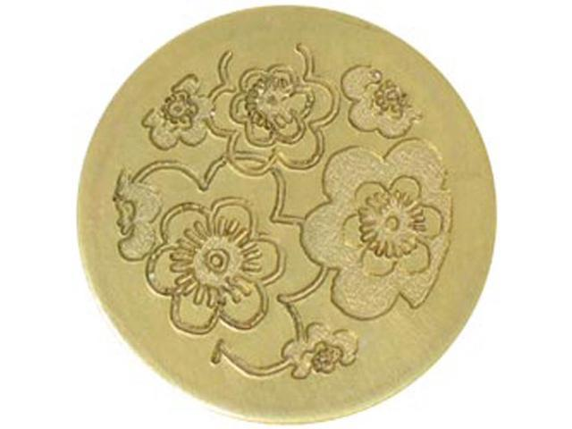 Large Decorative Seal Coin-Retro Floral