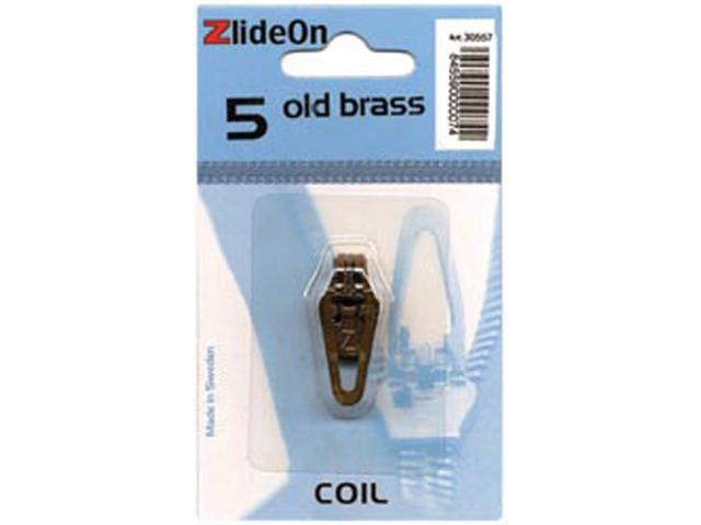 ZlideOn Zipper Pull Replacements Coil 5-Old Brass