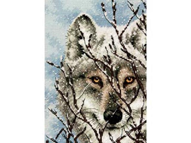 Gold Collection Petite Wolf Counted Cross Stitch Kit-5