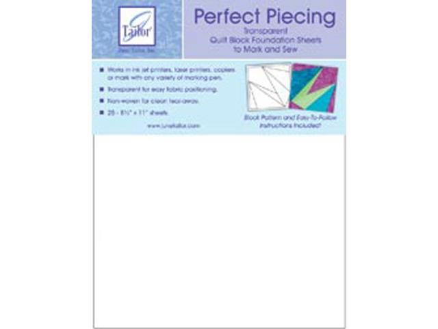 Perfect Piecing Quilt Block Foundation Sheets-8-1/2