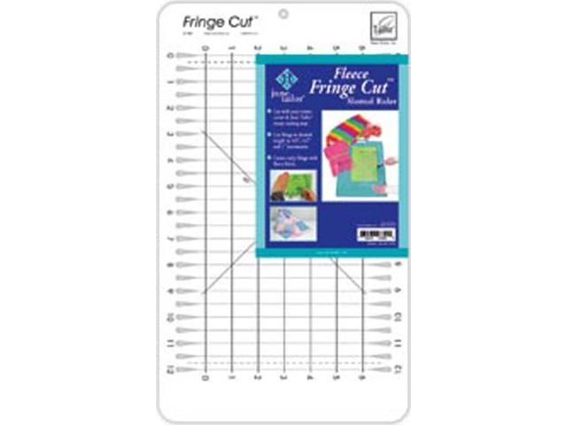 Fringe Cut Slotted Ruler -