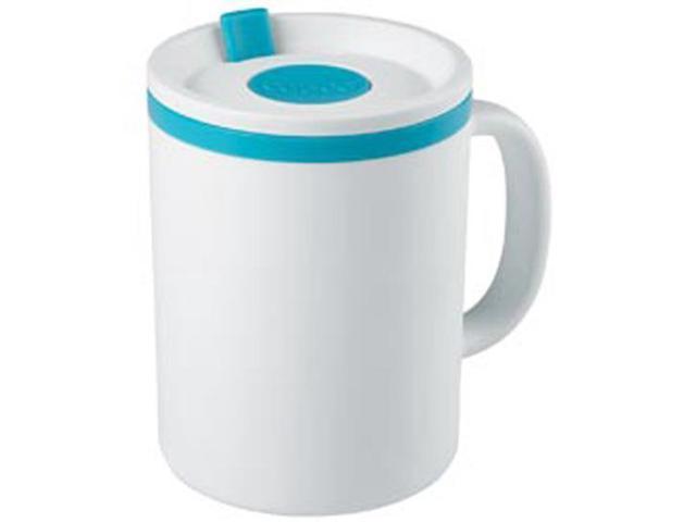 Iconic Desk Mug 16oz-White and Teal