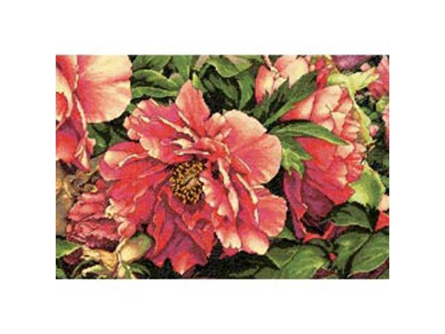 Gold Collection Coral Peonies Counted Cross Stitch Kit-16