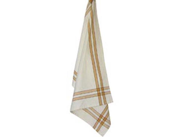 Cream Towel W/Pumpkin & Black Stripes 20