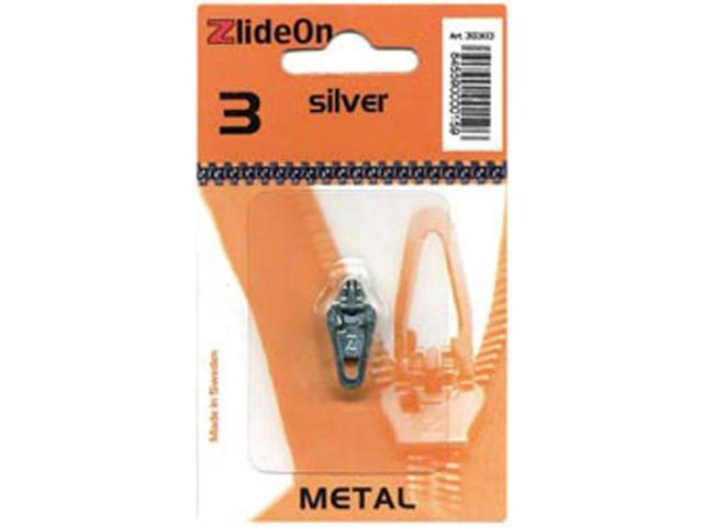 ZlideOn Zipper Pull Replacements Metal 3-Silver