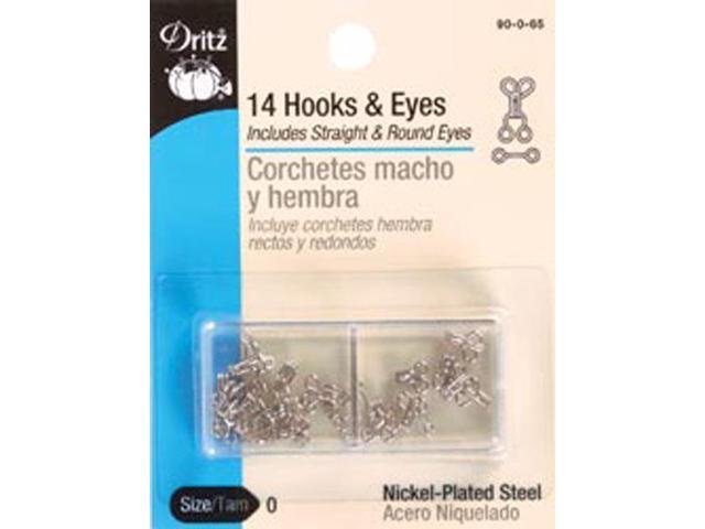 Hooks & Eyes Size 0 14/Pkg-Nickel