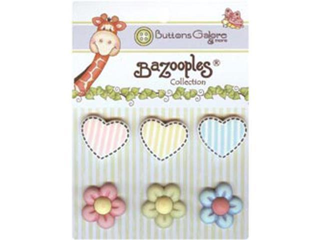 BaZooples Buttons-Hearts & Flowers
