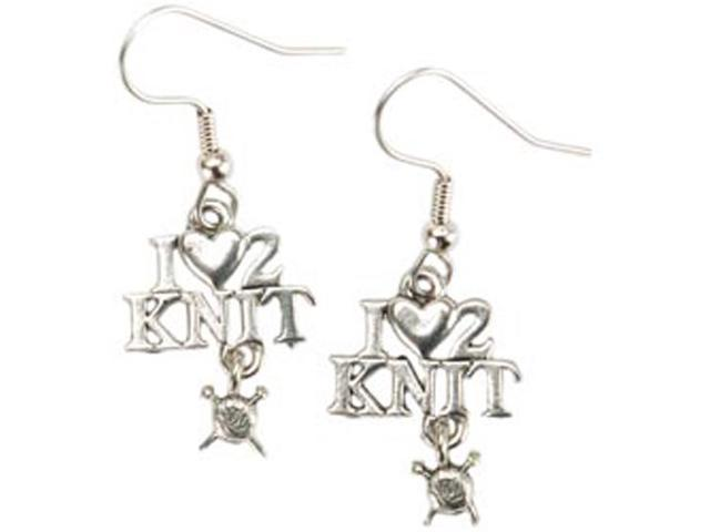 Charming Accents French Wire Earrings-I (Heart) 2 Knit