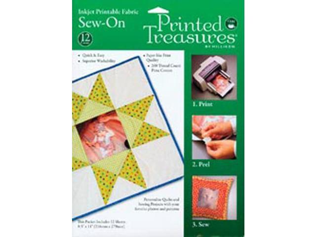 Printed Treasures Sew-On Ink Jet Fabric Sheets-White 8-1/2