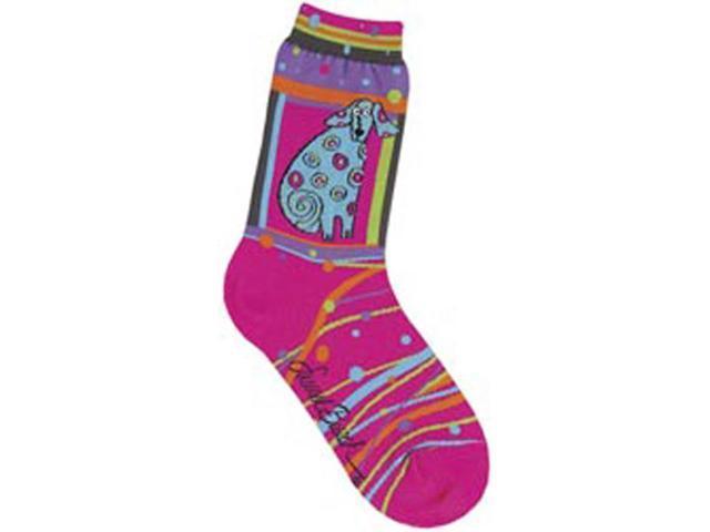 Laurel Burch Socks-Matisse-Magenta