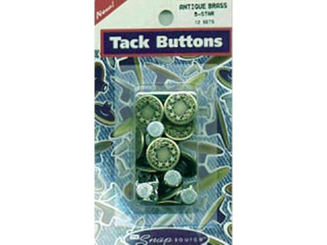 Tack Buttons Size 27 16mm 10/Pkg-Antique Brass