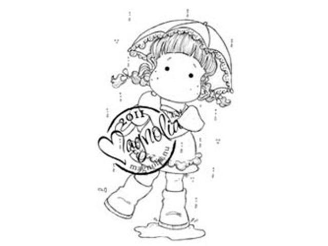 Sweet Rainbow Cling Stamp-Tilda In Summer Rain