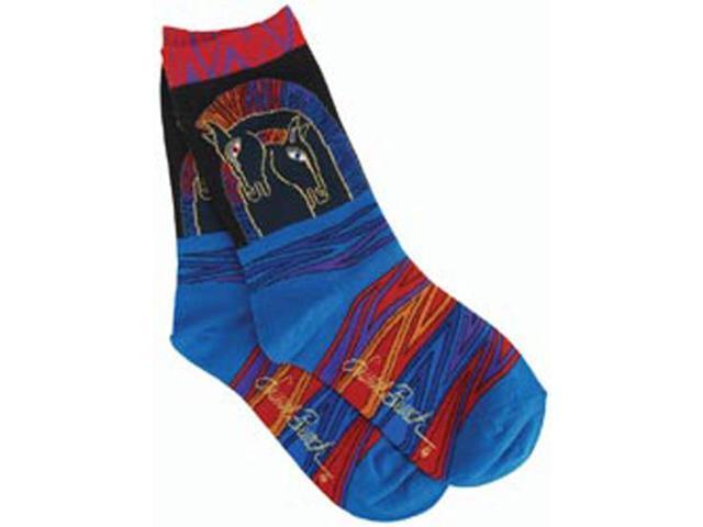 Laurel Burch Socks-Loving Horses -Multi