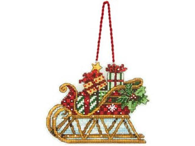 Susan Winget Sleigh Ornament Counted Cross Stitch Kit-4-1/4