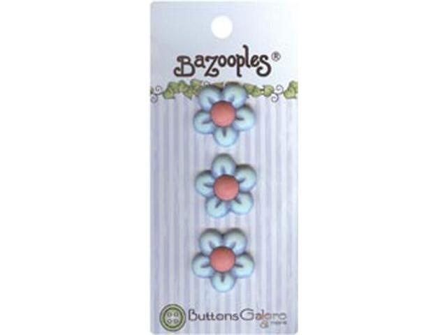 BaZooples Buttons-Blue Flowers