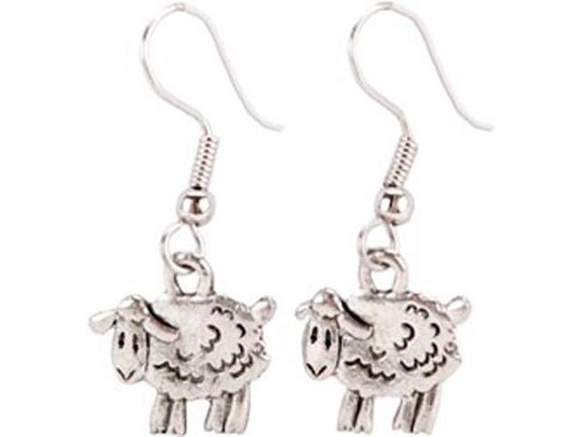 Charming Accents French Wire Earrings-Sheep