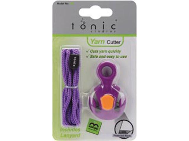 Yarn Cutter W/Lanyard-Purple W/Pink, Green Or Yellow Kushgrip