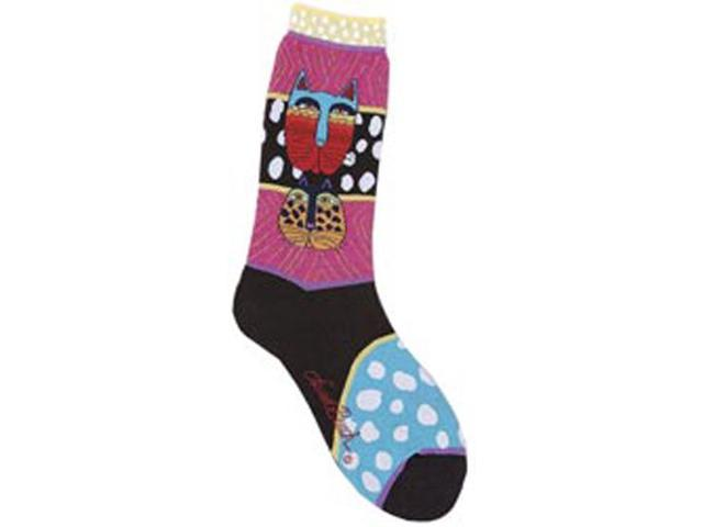 Laurel Burch Socks-Wild Cats-Multi