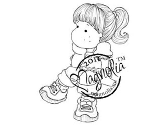 Sweet Rainbow Cling Stamp-Tilda With Ponytail