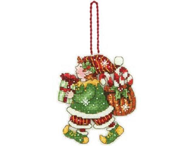 Susan Winget Elf Ornament Counted Cross Stitch Kit-3-1/4