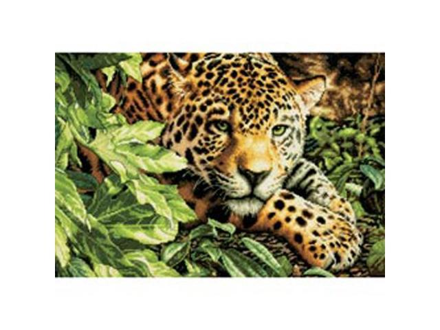 Gold Collection Leopard In Repose Counted Cross Stitch Kit-16