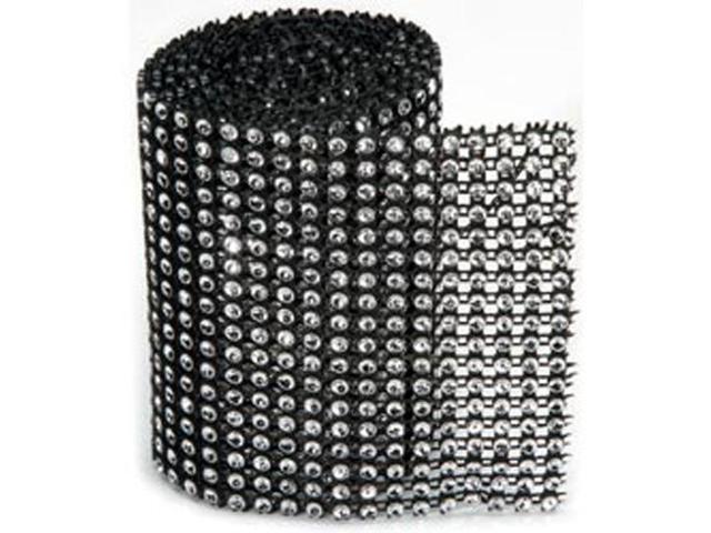 Bling On A Roll 3mm X 1yd-18 Row; Black/Silver