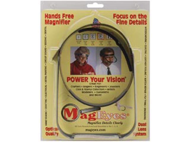 MagEyes Magnifier-Full Circle/Double Lo - Black