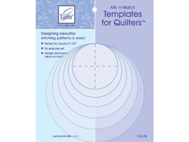 Mix'n Match Templates For Quilters 6/Pkg-Circle