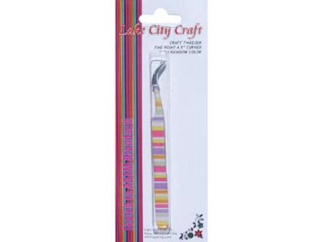 Curved Fine Point Tweezers-Rainbow