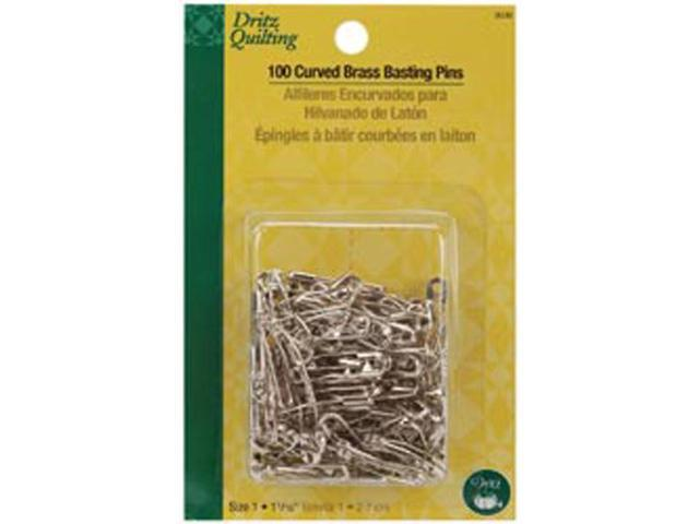 Dritz Quilting Brass Curved Basting Pins Size 1-100/Pkg